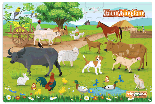 Zigyasaw Farm Animals Premium Giant Floor Puzzle