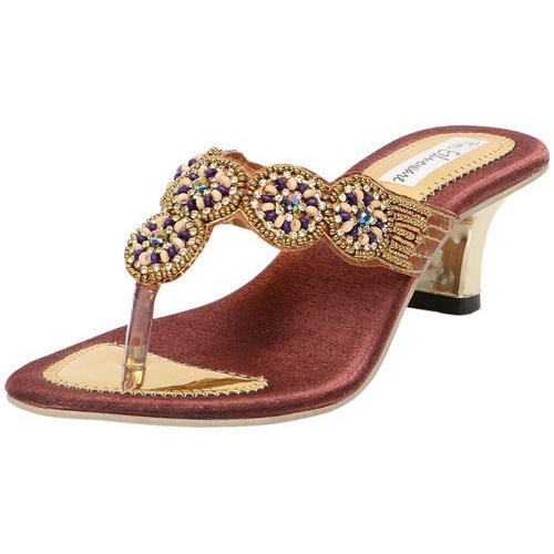 31a136f62527 Ethnoware Ethnic Women Copper Embroidered Sandals