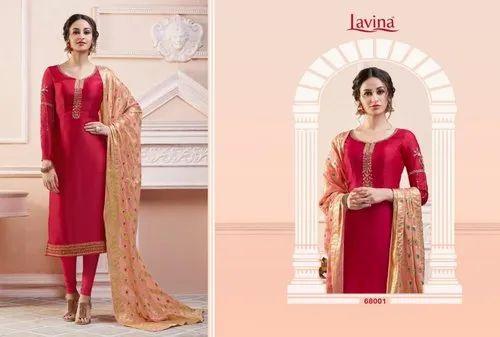 b439132348 6 Color Georgette LAVINA PRESENT DESIGNER SUIT, Rs 1395 /piece   ID ...
