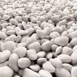 Oval Matte White River Pebbles Stone, For Landscaping