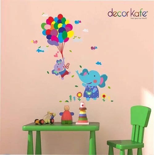 multicolor multiple decor kafe birthday elephant balloon wall