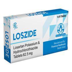 Losartan Potassium & Hydrochlorthiazide Tablets 62.5 mg