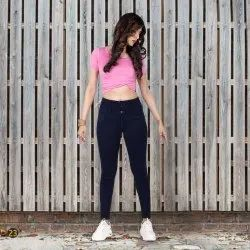 Mute Skinny Stretchable High Waist Ladies Jeans, Waist Size: Available sizes in 28 to 40