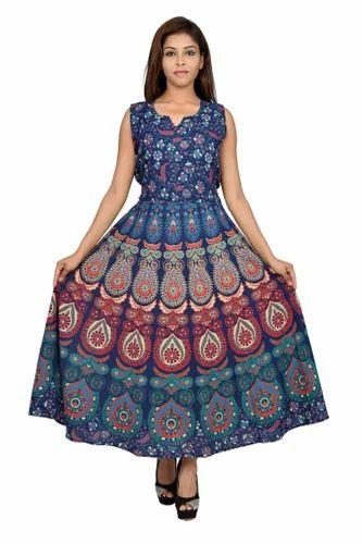 Jaipuri Bandhej Casual Girls Formal Dress