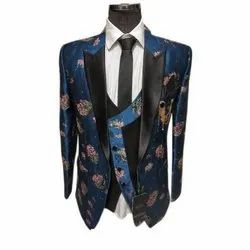 Mens Printed Wedding Wear Suit, Size: 34-44