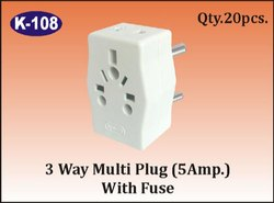 K-108 3 Way Multi Plug (5A) With Fuse