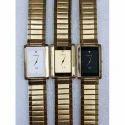 Crony Gold Tone Chain Wrist Watch