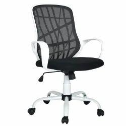 Black Revolving Office Adjustable Chair