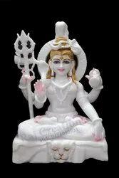 Raj Creations Marble Shiva Statue