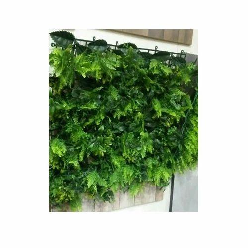 Green Plastic Artificial Vertical Garden Wall