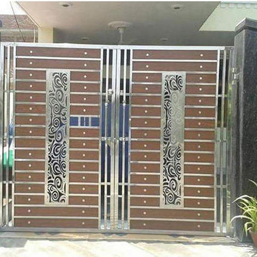 Stainless Steel Modern House Gate Designs: Designer Stainless Steel Main Gate, Ss Gate, Stainless