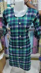Printed 3/4th Sleeve Turkey Ladies Kurti Or Tops
