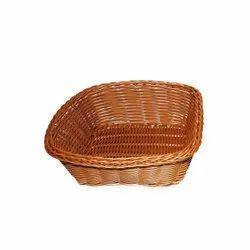 Brown Square Plastic Cane Effect Basket (Med), Size/Dimension: 17 X 17 X 6.5 Cm, 55