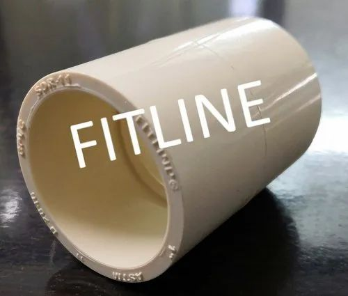 Light Yellowish White Fitline CPVC Coupler for Hot & Cold Water Application