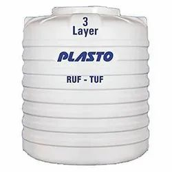White Plastic Plasto Triple Layer Water Tank, Storage Capacity: 500L, for Water Storage