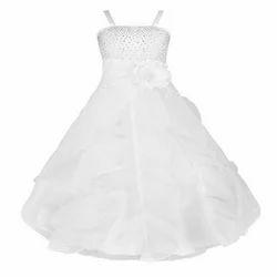 Kids White Gown