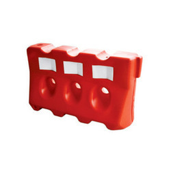 Red Plastic Traffic Barrier