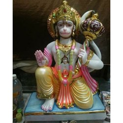 Lord Hanuman White Statue