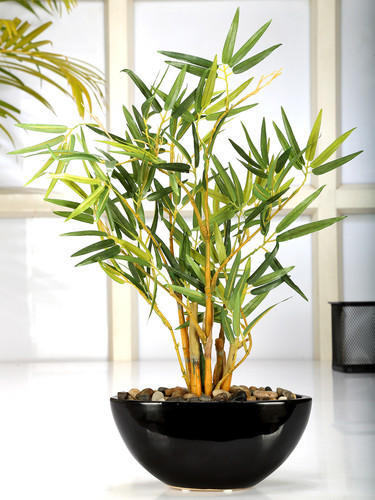 Fourwalls Artificial Bamboo Plant In A Ceramic Pot 38cm Total Height