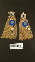 Antique Kundan Chain Tassle Earring
