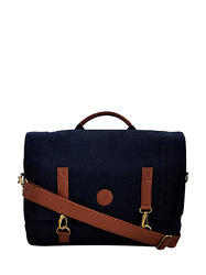 Yelloe Blue Laptop Bag With Big Size Compartment