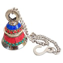 Brass Bell With Stone Work