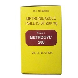 Metrogyl Tablets, Packaging Type: Box, 200 Mg