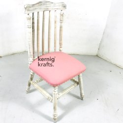 Antique Kernig Krafts Wooden Stick Chair Rosewood With Cushion, For Cafe, Cafeteria & Restaurant, 21x21x30 Cm