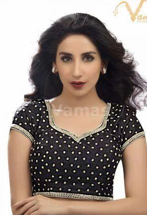 08f27088ac6019 Bridal Wear Blouses - Vamas Green Velvet Back Open Blouse Kp72 Green  Manufacturer from Mumbai