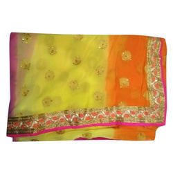 Party Wear Ladies Net Saree, 6.3 M with Blouse Piece