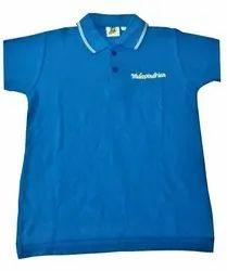 Boys Blue School Uniform T Shirt With Logo