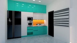 Modern Straight Modular Kitchen, Warranty: Life Time