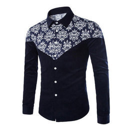 Mens Cotton Full Sleeve Printed Casual Shirts
