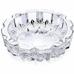 Elegant Round And Round Glass Ashtray