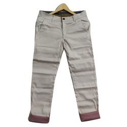 Slim Fit Casual Wear Men Cotton Trousers, Size: 28-36