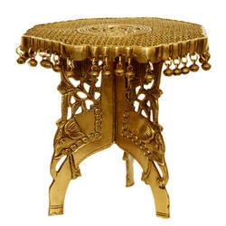 Aakrati Brass metal made Chowki- Stand Stylish Chowki Stand for Home Temple and Office Decor