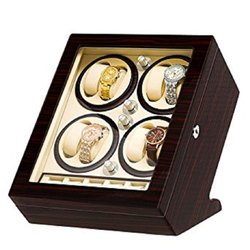 Luxury Wooden Leatherette Automatic Watch Winder ( 8.5 )
