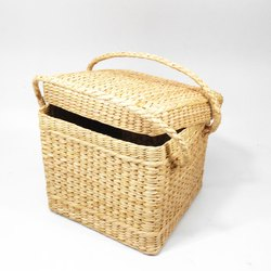 Bamboo Carry Basket, Size: 33x30x35 Cm