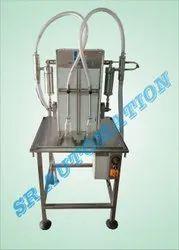 2 Head Semi Auto Sanitizer Filling Machine