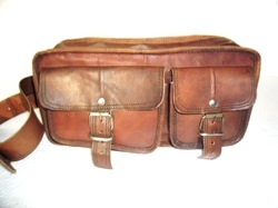 Double Compartment Vintage Leather Bag