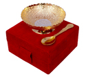 Gold & Silver Plated Bowl And Spoon Set