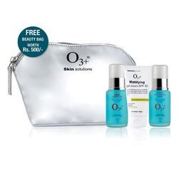 O3 BAN ACNE Home Care Kit with Beauty Bag Topical Combination of Anti Acne Cream, Gel and Serum(150G