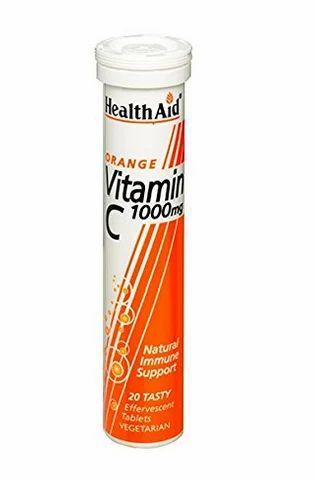 Health Aid Vitamin C 1000mg (Orange) - 20 Effervescent Tablet