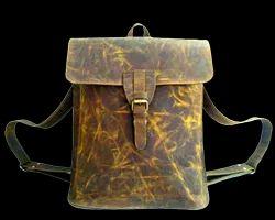Vintage Leather Retro Backpack