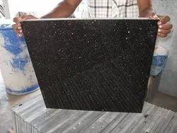 Polished Big Slab Black Galaxy Tiles, For Flooring, Thickness: 5-10 mm