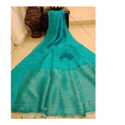 Silk Border Handloom Matka Muslin Jamdani Saree, Hand Made, 6.3 m (with blouse piece)