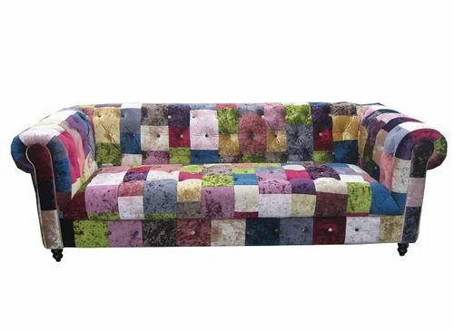 Captivating 3 Seater Multi Color Sofa