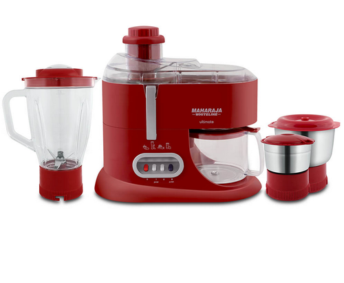 Maharaja Whiteline Attractive Red And Silver Ultimate Juicer Mixer Grinder, 230v
