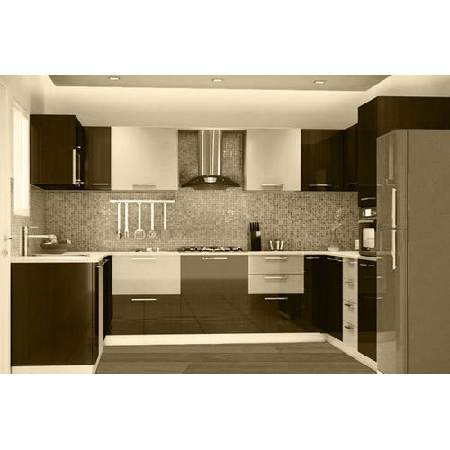 Open Kitchen Noida: Modular Kitchen, 8 Square Modular Kitchens, Modern