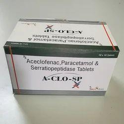 Aceclofenac Paracetamol & Serratiopeptidase Tablets